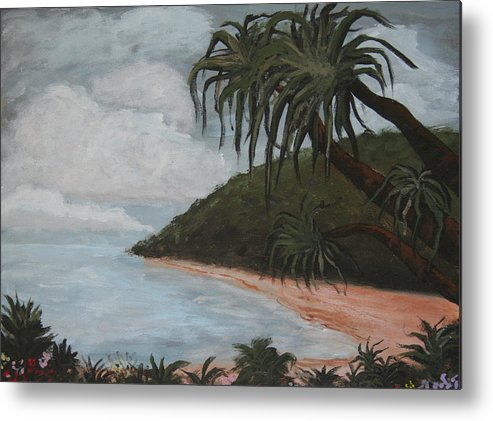 Landscape Metal Print featuring the painting Hawaii by Amy Parker Evans