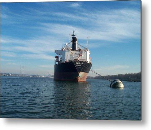 Ship Metal Print featuring the photograph Haydar At Anchor by Alan Espasandin