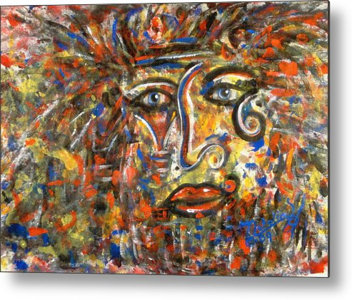 Free Expressionism Metal Print featuring the painting Holy Man by Natalie Holland