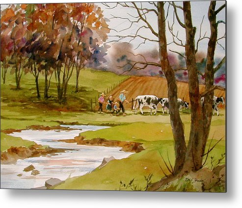 Landscape Metal Print featuring the painting Homeward Bound by Faye Ziegler