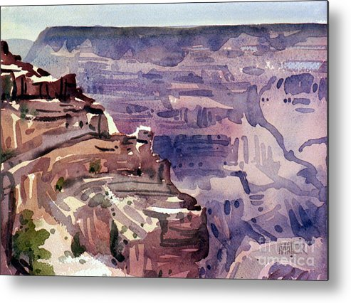Grand Canyon Metal Print featuring the painting In The Canyon by Donald Maier