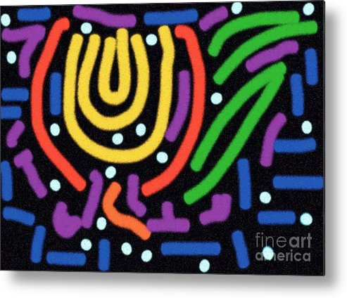 Digital Metal Print featuring the digital art Incan Design by Thomas Smith