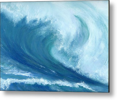 Wave Metal Print featuring the painting Inside Out by Laura Johnson