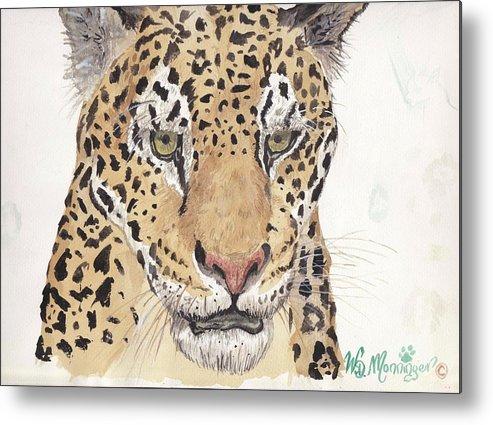 Wildlife Metal Print featuring the painting Jaguar by Wayne Monninger