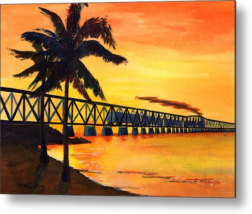 Florida Metal Print featuring the painting Last Train To Paradise by CB Woodling