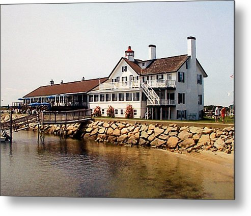 Landscape Photographs Metal Print featuring the photograph Lighthouse Inn At Bass River by Frederic Kohli