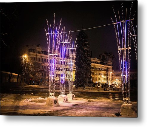 Lights By Valeria New Metal Print featuring the photograph Lights by Valeria Trot