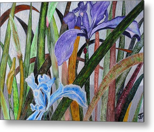 Floral Metal Print featuring the painting Lilly by John Vandebrooke