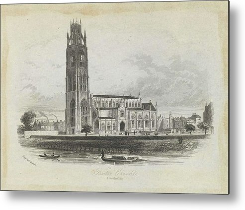 Nature Metal Print featuring the painting London Boston Church. by Artistic Rifki