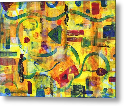 Abstract Metal Print featuring the painting Luminal Progression by Melody Carr