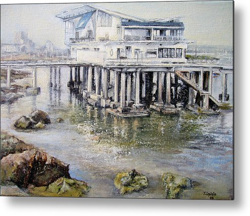 Maritim Metal Print featuring the painting Maritim Club Castro Urdiales by Tomas Castano