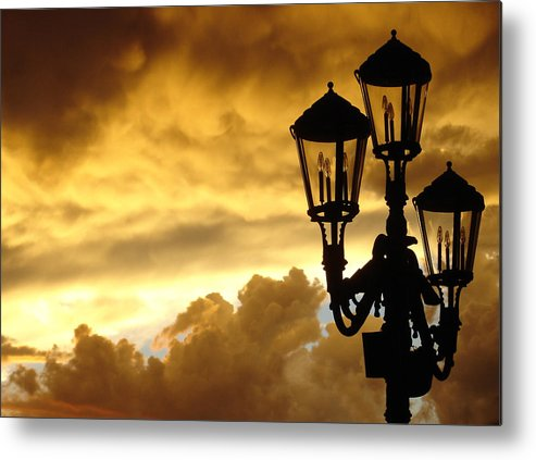 Night Sky Metal Print featuring the photograph Mirage Night Sky by Michael Simeone