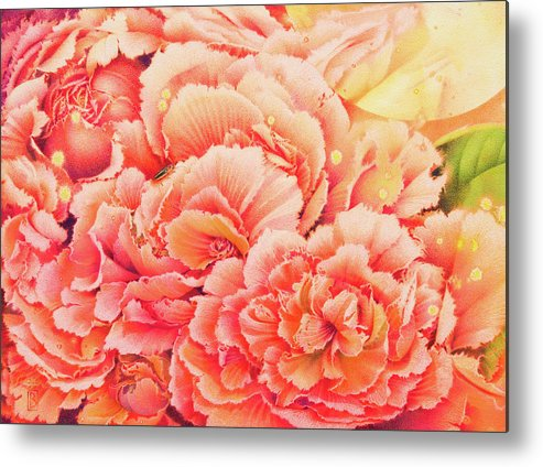 Flowers Metal Print featuring the painting Moonglow by Lynn Bywaters