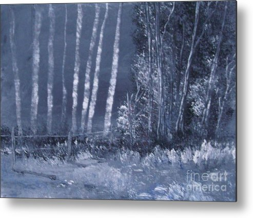Moonlight Metal Print featuring the painting Moonshine by Andy Davis