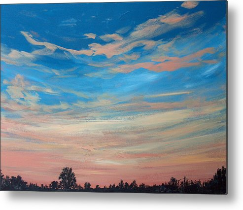 Sunrise Metal Print featuring the painting Mornin Iv by Pete Maier