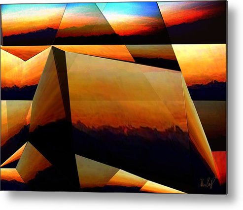 Alpen Metal Print featuring the mixed media Morning In The Alps by Helmut Rottler
