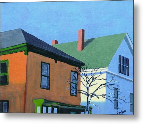 Maine Metal Print featuring the painting Munjoy Morning by Laurie Breton