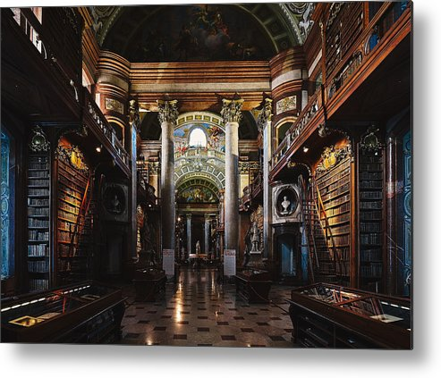 Vienna Metal Print featuring the photograph National Library, Vienna by Sandeep Murali