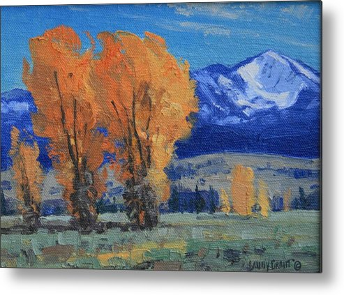 Landscape Metal Print featuring the painting Near Kelly by Lanny Grant