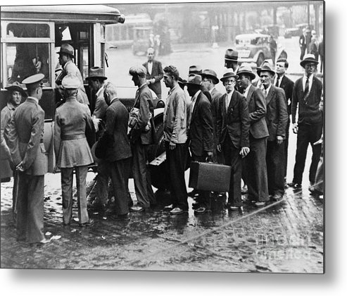 1933 Metal Print featuring the photograph New Deal: C.c.c. Camp by Granger