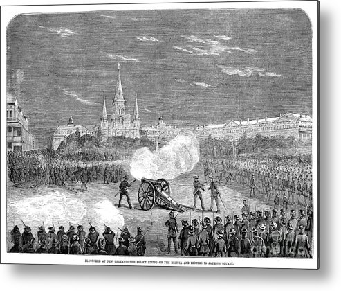 1873 Metal Print featuring the photograph New Orleans: Riot, 1873 by Granger