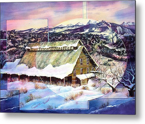 Barn Metal Print featuring the painting Old Stelty Packing Shed by Connie Williams