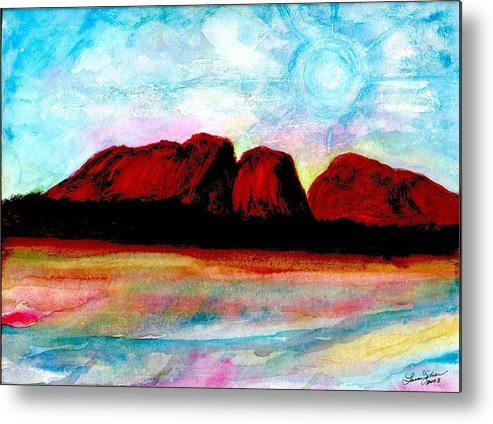 Dreamscape Metal Print featuring the painting Ozzzzzzzzzz by Laura Johnson