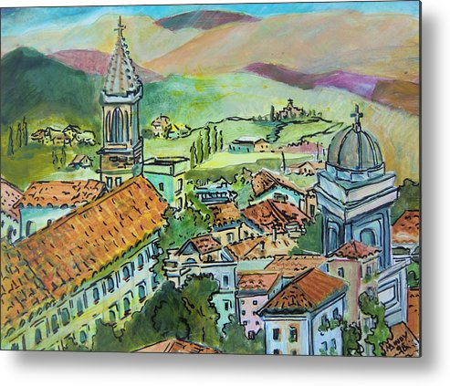 Perugia Metal Print featuring the painting Perugia Italy by Mindy Newman