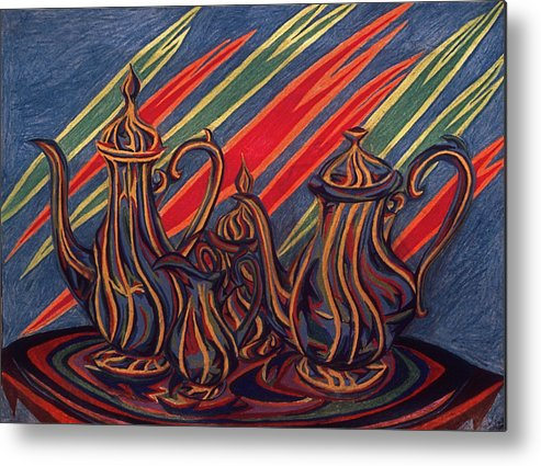 Still Life Metal Print featuring the painting Phoenix by Robert SORENSEN