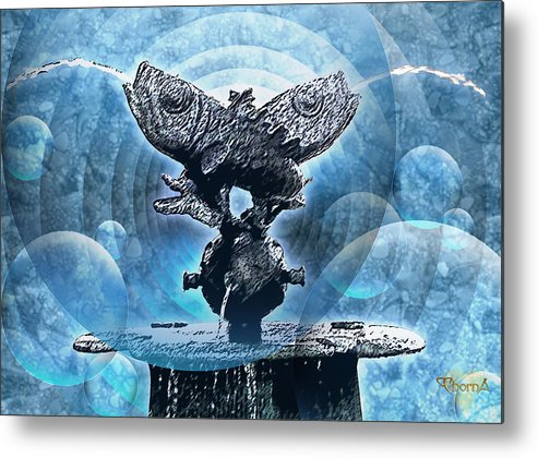 Digital Art Metal Print featuring the digital art Pisces by Greg Piszko