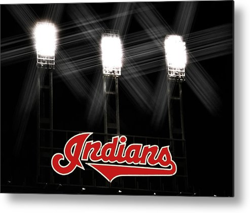 Cleveland Metal Print featuring the photograph Play Ball by Kenneth Krolikowski