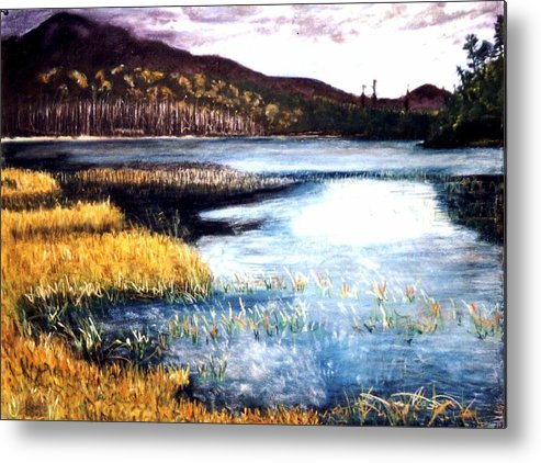 Landscape Metal Print featuring the painting San Gabriel II by Jack Spath