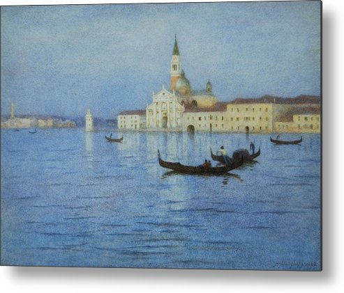 San Metal Print featuring the painting San Giorgio Maggiore by Helen Allingham