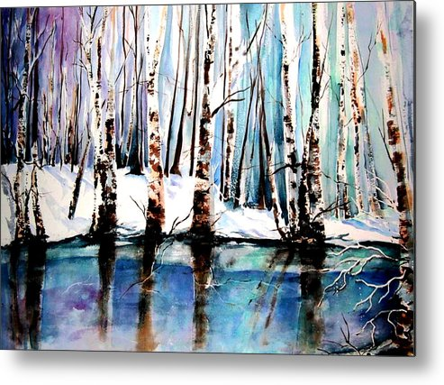 Sandy River Metal Print featuring the painting Sandy River by Marti Green