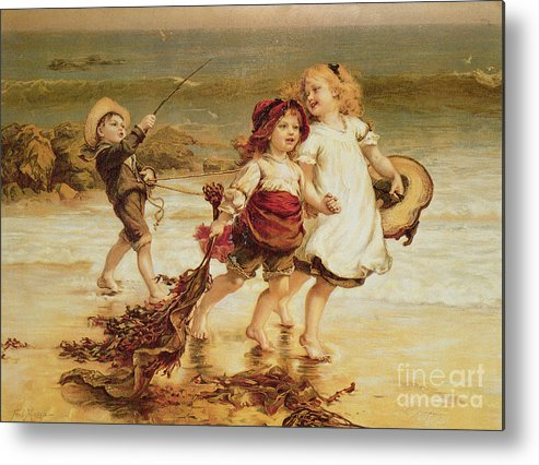 Sea Metal Print featuring the painting Sea Horses by Frederick Morgan