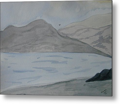 Landscape Metal Print featuring the painting Serenity by Liz Vernand