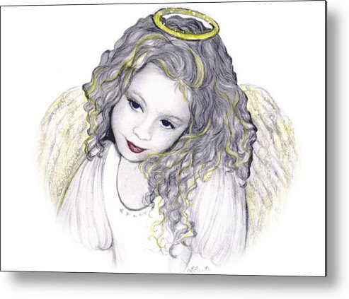 Angel Metal Print featuring the drawing Shelangel by L Lauter