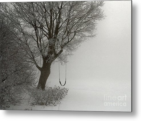 Swing Metal Print featuring the photograph Silently Swinging by Jan Piller