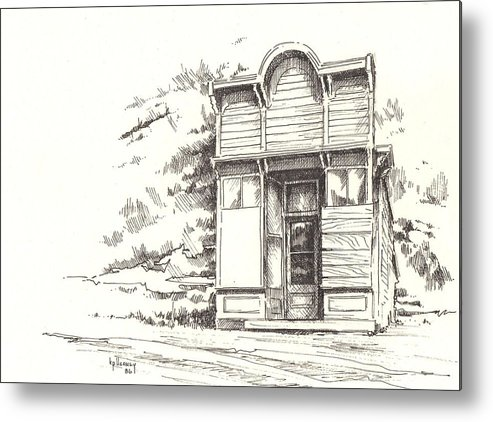 Ghost Town Metal Print featuring the drawing Silver Plume Ghost Town Colorado by Kevin Heaney