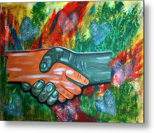 Vifer Metal Print featuring the painting Solidariedade by Vitor Fernandes VIFER