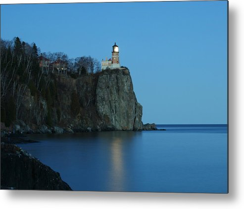 Lighthouse Metal Print featuring the photograph Split Rock Lighthouse by Joi Electa