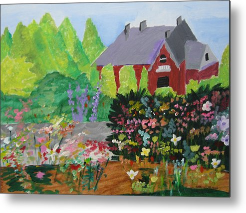 Gardens Metal Print featuring the painting Spring Garden by Jeff Caturano