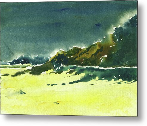 Storm Metal Print featuring the painting Storm Is Brewing by Anil Nene