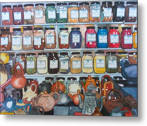 Spice Metal Print featuring the painting Sugar And Spice by Victoria Heryet