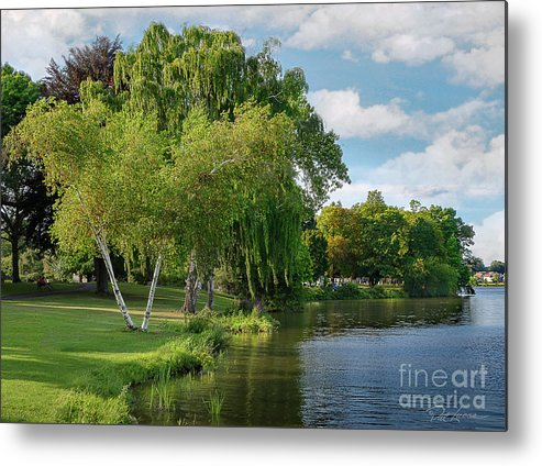Green Metal Print featuring the photograph Summer At The Lake by Pat Lucas