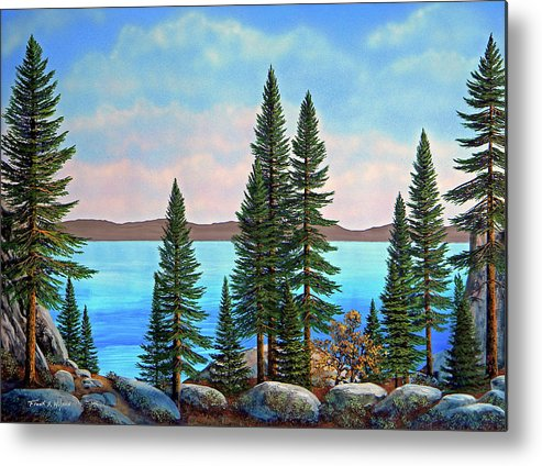 Tahoe Shore Metal Print featuring the painting Tahoe Shore by Frank Wilson
