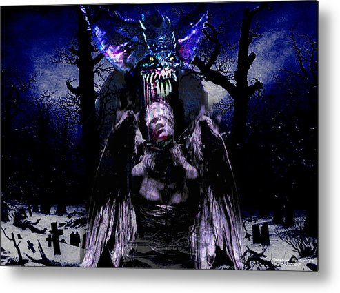 Landscape Metal Print featuring the digital art Taste Of Blood by Evelyn Patrick