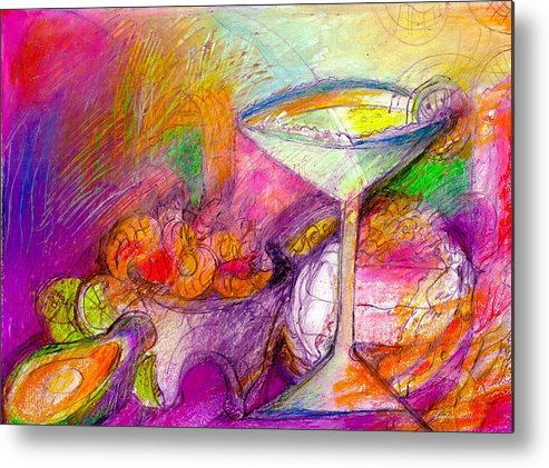 Tequilas Metal Print featuring the mixed media Tequilas by Lydia L Kramer