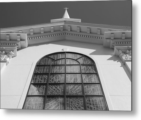 Church Metal Print featuring the photograph The Black And White Church by Rob Hans
