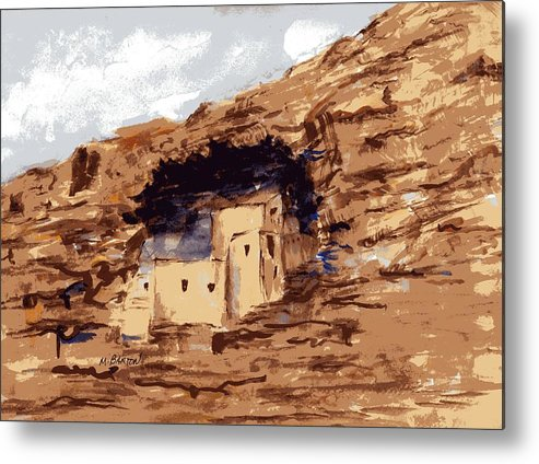 Landscape Metal Print featuring the painting The Castle by Marilyn Barton
